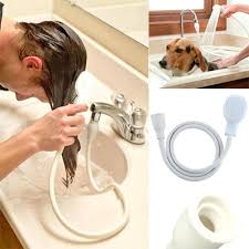 hair dog pet shower sprays hose bath tub sink faucet attachment washing indoors spray for laundry