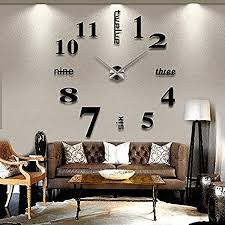 large office clocks. Asvert Wall Clock Modern DIY 3D Frameless Digital Large Clocks For Kitchen  Home Office Sticker Art Large Office Clocks G