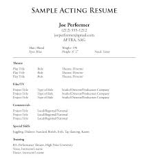 actor resume no experience acting resume example acting resume template no experience