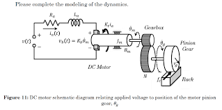solved 1 draw the circuit diagram for the dc motor in fi schematic diagram of brushless dc motor schematic diagram of dc motor