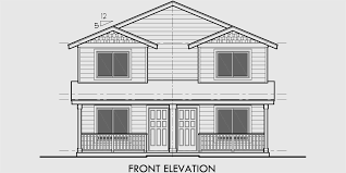 house rear elevation view for d 549 duplex house plans two story duplex house