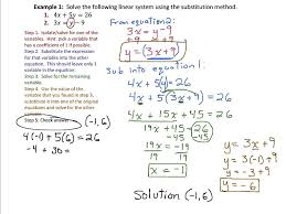 solving systems of linear equations by substitution part 1 9 1 1 you