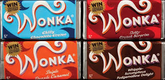 real wonka chocolate bar.  Real 10499767 1 The Four Wonka Bars  On Real Chocolate Bar W