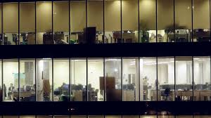 office glass windows. Plain Glass Modern Glass Office Building With People Working Inside Business Center  Lighting Windows Overtime Camera Movement From Bottom To  To Office Glass Windows