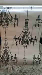 black and white chandelier wallpaper x2