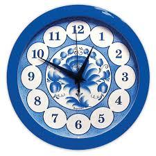 Купить <b>Часы настенные САЛЮТ</b> П-Б4-169, круг, голубые с ...