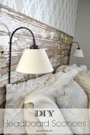 Diy Headboards Diy Headboard Sconces My Creative Days