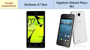 Karbonn A7 Star vs Gigabyte GSmart Maya ...