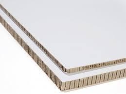 honeycomb board cardboard clad white