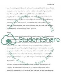 a clean well lighted place essay example topics and well  a clean well lighted place essay example