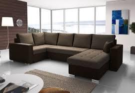 Couchgarnitur Fano Mit Schlaffunktion Ottorechts Braun