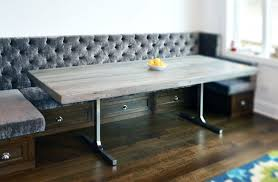 custom made reclaimed wood rustic grey dining table