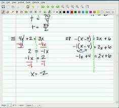 algebra 1 ten examples of solving equations part 2