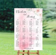 Wedding Seating Chart Wording Wedding Seating Chart Template Editable Seating Chart