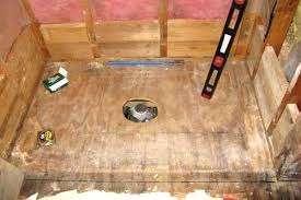 installing a shower base on concrete floor how to install a shower base basement pan corner