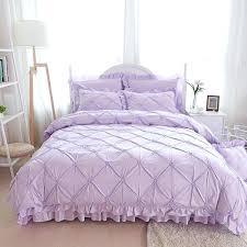 pinch pleat duvet cover purple princess bedding set luxury 4 pinch pleat quilt cover ruffle bedspreads bed skirt pillowcases bedding linen duvet cover