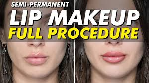 semi permanent lip tattoo on light skin permanent makeup eye design new york