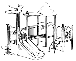 Playground Slide Free Printable Coloring Pages Chronicles Network