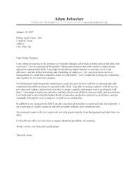 Assistant Manager Cover Letter Sample Assistant Bar Manager Cover ...