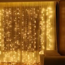 Outdoor Seasonal Lights Window Curtain String Light 300 Led Curtain Light For