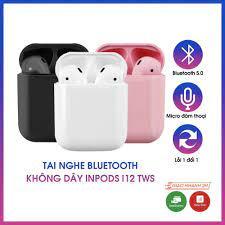 Tai nghe Bluetooth không dây Inpods i12 TWS điều khiển cảm ứng âm thanh  HIFI cho Android iOS - Tai nghe Bluetooth chụp tai Over-ear