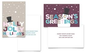 Free Greeting Card Templates Word Jolly Holidays Greeting Card Template Word Publisher