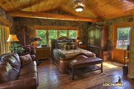 master bedroom log home
