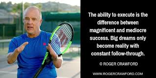 """Roger Crawford on Twitter: """"The ability to execute is the difference  between magnificent and mediocre success. Big dreams only become reality  with constant follow-through. #Believe #Execute #Achieve…  https://t.co/DzDsvRygu8"""""""