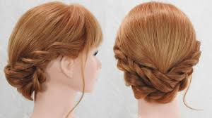 ロープ編み込み髪型やり方簡単 ベース巻きなし 可愛いヘアー 見た目