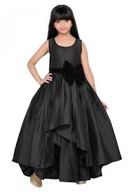 Designer Gown In Black Colour Taffeta Party Wear Gown In Black Colour Gowns For Girls