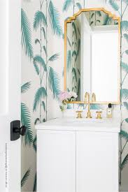 Bathroom Wallpaper Palm Leaves ...