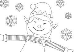 Free Christmas Colouring Pages Sheets Pictures Elf For Christmas
