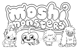 Small Picture Free Printable Moshi Monster Coloring Pages For Kids