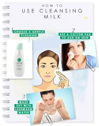 how to apply cleansing milk