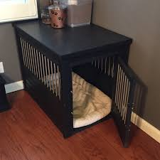 indoor dog crate furniture elegant new age pet ecoflex habitat n home innplace table espresso pertaining to 15