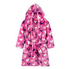Hatley Raincoat Size Chart Hatley Multi Hearts Kids Fleece Robe Size 2 3 Years