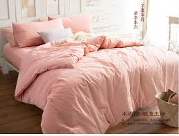Cotton Pure Coral Solid Bedding Set Flitted Bed Sheet Duvet Cover ... & Cotton Pure Coral Solid Bedding Set Flitted Bed Sheet Duvet Cover Set  Bedspread Home Hotel Bed Adamdwight.com
