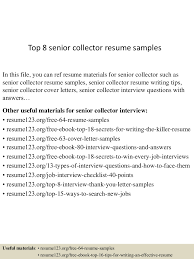 collector sample resumes examples of comparison essay lva1 app6891 thumbnail 4jpg cb 1437642304 top8seniorcollectorresumesamples 150723090407 lva1 app6891 thumbnail 4 top 8 senior collector resume samples