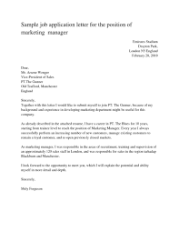 Business Letter Example For Applying A Job 27 Examples Of