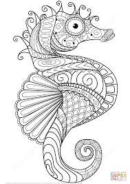 Small Picture Caballito de Mar Zentangle Super Coloring Dibujos Pinterest