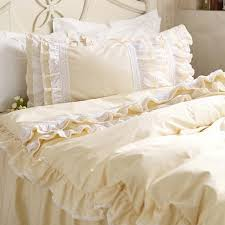 lace love duvet cover set light yellow