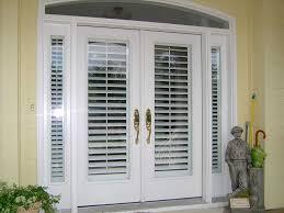 Glass Door plantation shutters for sliding glass door photos : Shutters-Faux-White-Door-Exterior.jpg