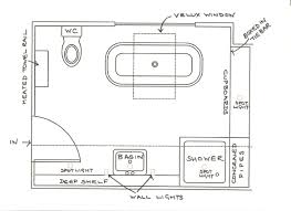 Bathroom Floor Plans With Tub And Shower