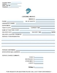 Catering Invoice Template Excel Adorable Invoice Template Excel 48 Catering Invoice Template Free Tax