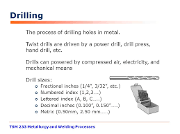 drill bit sizes fractional inch. tsm 233 metallurgy and welding processes drilling the process of holes in metal. drill bit sizes fractional inch c