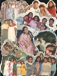 A Picture Collage Made On Black Chart Paper Card Sheet