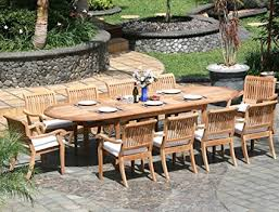 new 11 pc luxurious grade a teak dining set large 117 oval table