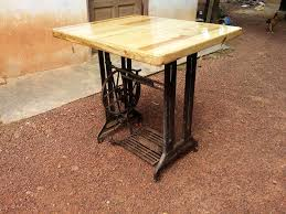 wooden pallet and old machine base table