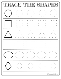 Free printable shapes worksheets for toddlers and preschoolers