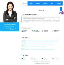 Resume Website Templates Stunning Resume Website Templates Togatherus